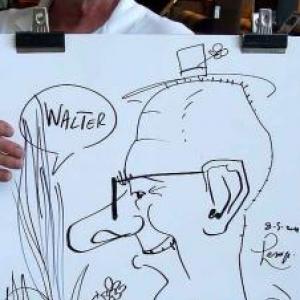 Karikaturen Pot interieur Axel-8320
