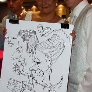 Caricature du mariage de Véronique et Frédéric