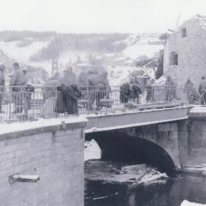 Houffalize 1944 1945 Pont route de Liege