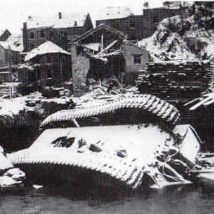 Houffalize 1944 1945 pont route de Laroche