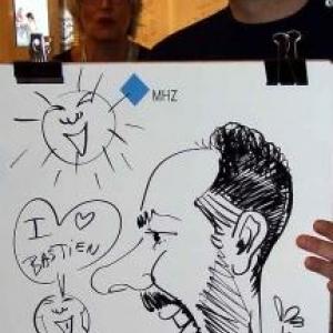 Intirio Gent MHZ caricature