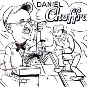 caricature Daniel Choffray toiture ramonage