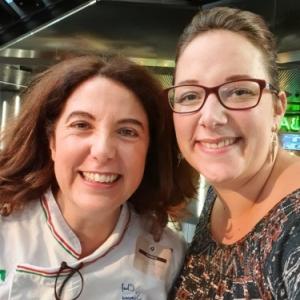 Stephanie Remacle avec le Chef Simona