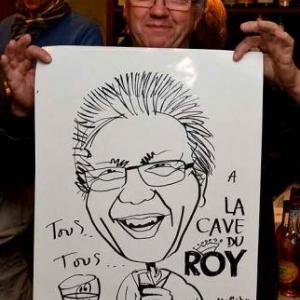 La Cave du Roy-photo 4700-caricature de Jean-Marie Lesage