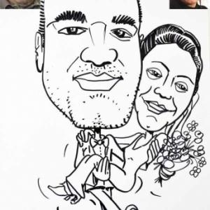 Animation caricature mariage