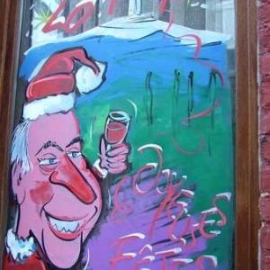 Peinture sur vitrine pour Noel-7543