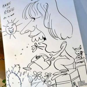 Caricature pour les 50 ans de Anne et Rene-1765