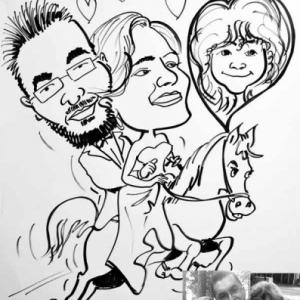 caricature pour un mariage
