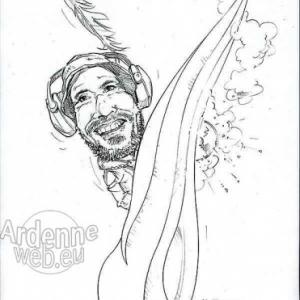 caricature de Simon BORNE par Olivier Claudon