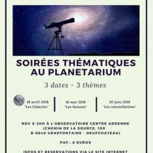 20h, Planetarium public Observatoire Centre Ardenne