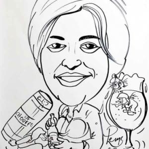 caricature de Aurelie JASPAR