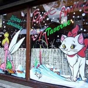 Verviers - Peinture sur vitrine pour Noel-7560