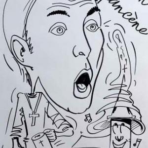 David Schiepers en caricature