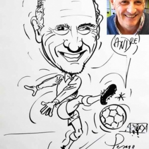 caricature minute football