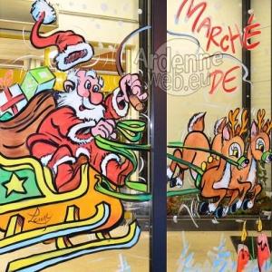 detail de la peinture sur vitre pour NOEL