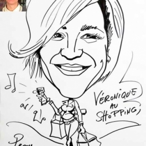 caricature minute shopping