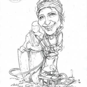 caricature de Sylvie KOECHELIN par Olivier Claudon