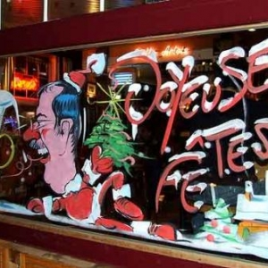 Peinture sur vitrine pour Noel-7513