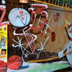 peinture sur vitrine pour NOEL-2572