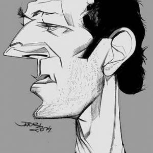 Vincent Cassel  caricature de Christian Jacot
