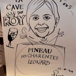 La Cave du Roy-photo 4713-caricature de Jean-Marie Lesage