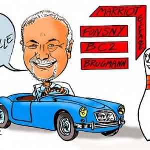 caricature mise en couleur par ordinateur