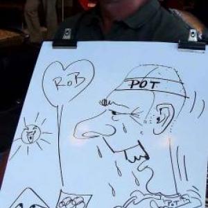 Karikaturen Pot interieur Axel-8322