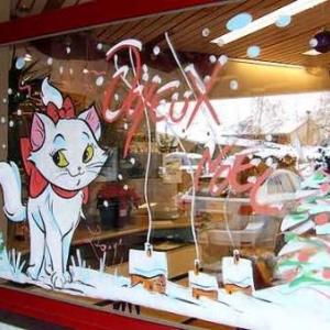 Gesve - Peinture sur vitrine pour Noel-7471