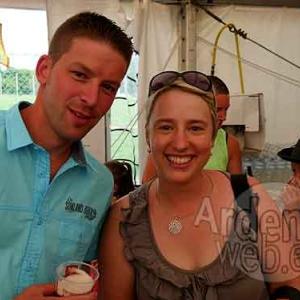 Christel Dislaire au 24 heures cyclistes de Tavigny en juillet 2015