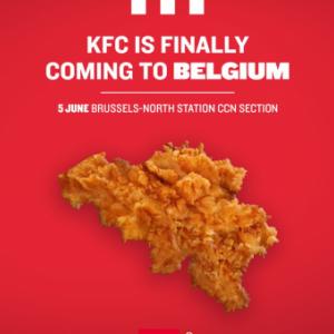 Kentucky Fried Chicken ouvre en Belgique