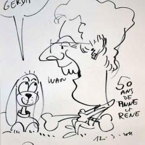 Caricature pour les 50 ans de Anne et Rene-1759