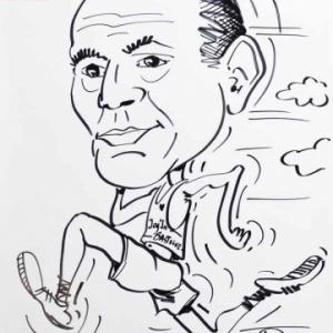 caricature jogging Bastogne