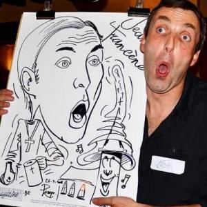 David Schiepers et sa caricature