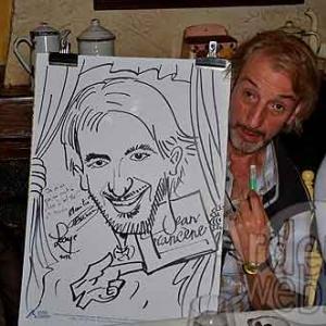 Alain Posture et sa caricature