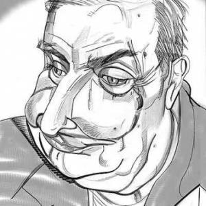 Claude Chabrol caricature de Christian Jacot