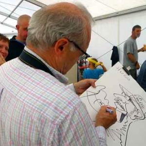 Jean-Marie Lesage en caricature minute  photo de Chris Bauweraerts