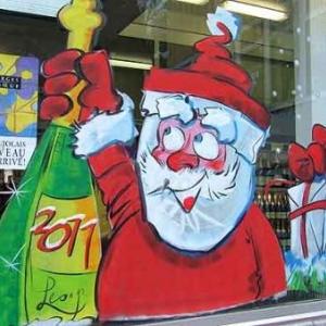 Peinture sur vitrine pour Noel-7380
