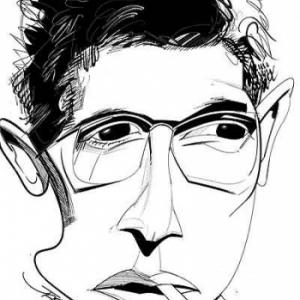 Darry Cowl caricature de Christian Jacot
