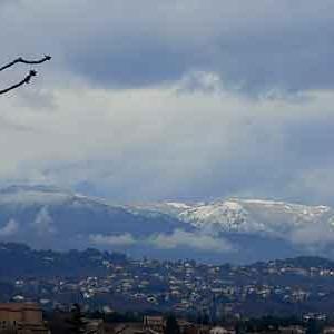 17 : vue de la terrasse Villa Elisa Aubenas