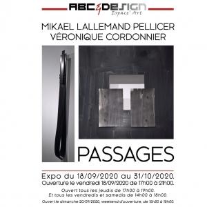 Véronique Cordonnier et Mikael Lallemad Pellicer à la galerie ABC&Design.