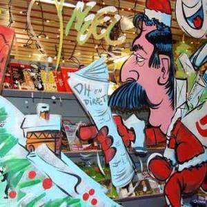 Peinture sur vitrine pour Noel-7546