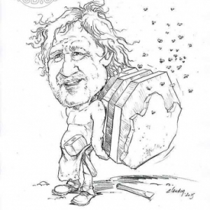 caricature de Henri HARDY par Olivier Claudon