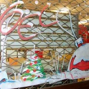 Liege -  Peinture sur vitrine pour Noel-7404