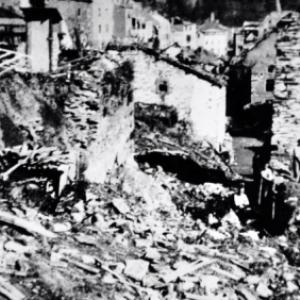 """""""Houffalize se souvient"""". Rue Cheravoie 1945"""