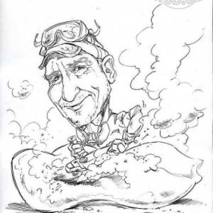 caricature de Peter SEIP par Olivier Claudon