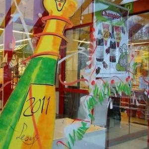 Peinture sur vitrine pour Noel-7317