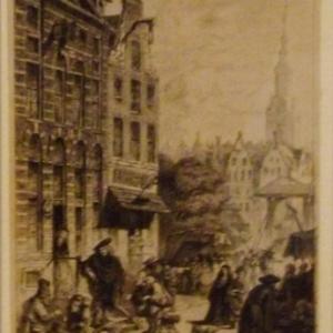 Rembrandt devant sa maison a Amsterdam ( vers 1635 )