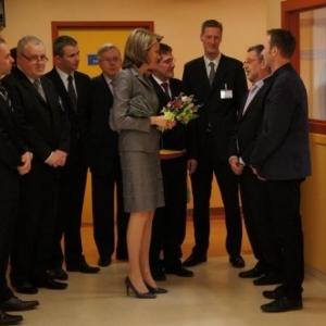 24. Les responsables du PIT accueillent la Princesse