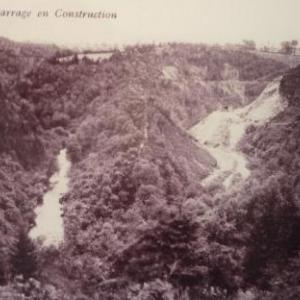 Le site de construction du barrage