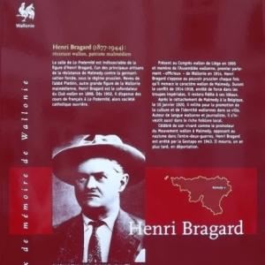 La plaque dediee a Henri Bragard